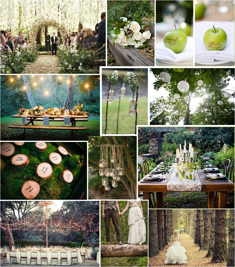 themed thursday twilight inspired forest wedding