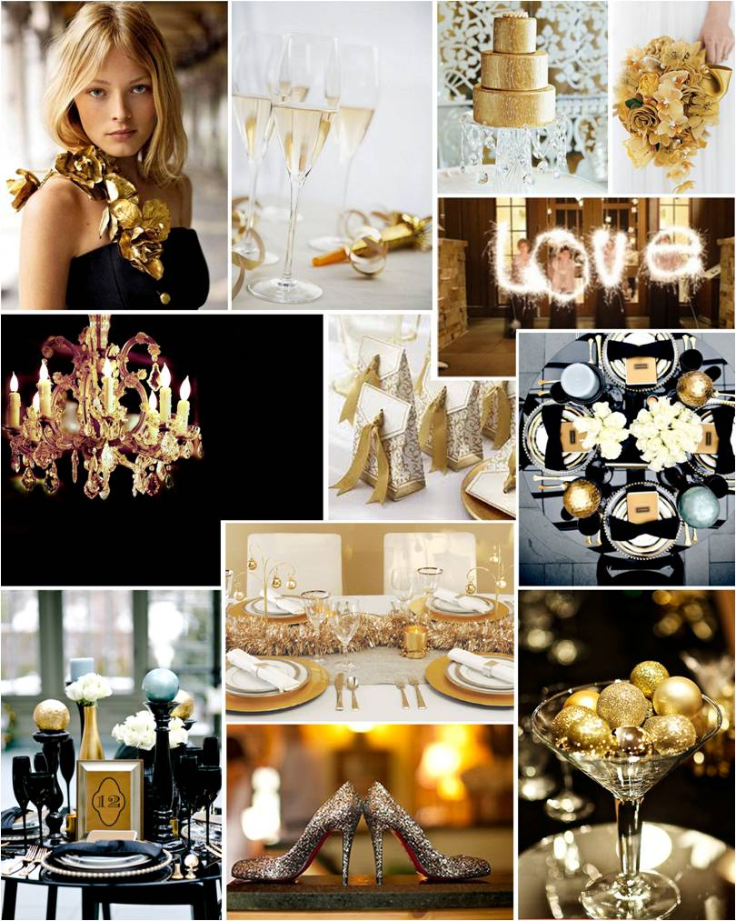 Themed Thursday All That Glitters A New Year S Eve Wedding