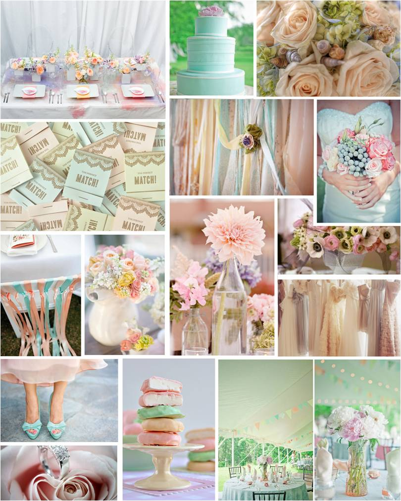 Themed Thursday Pretty Pastels Intertwined Weddings Events
