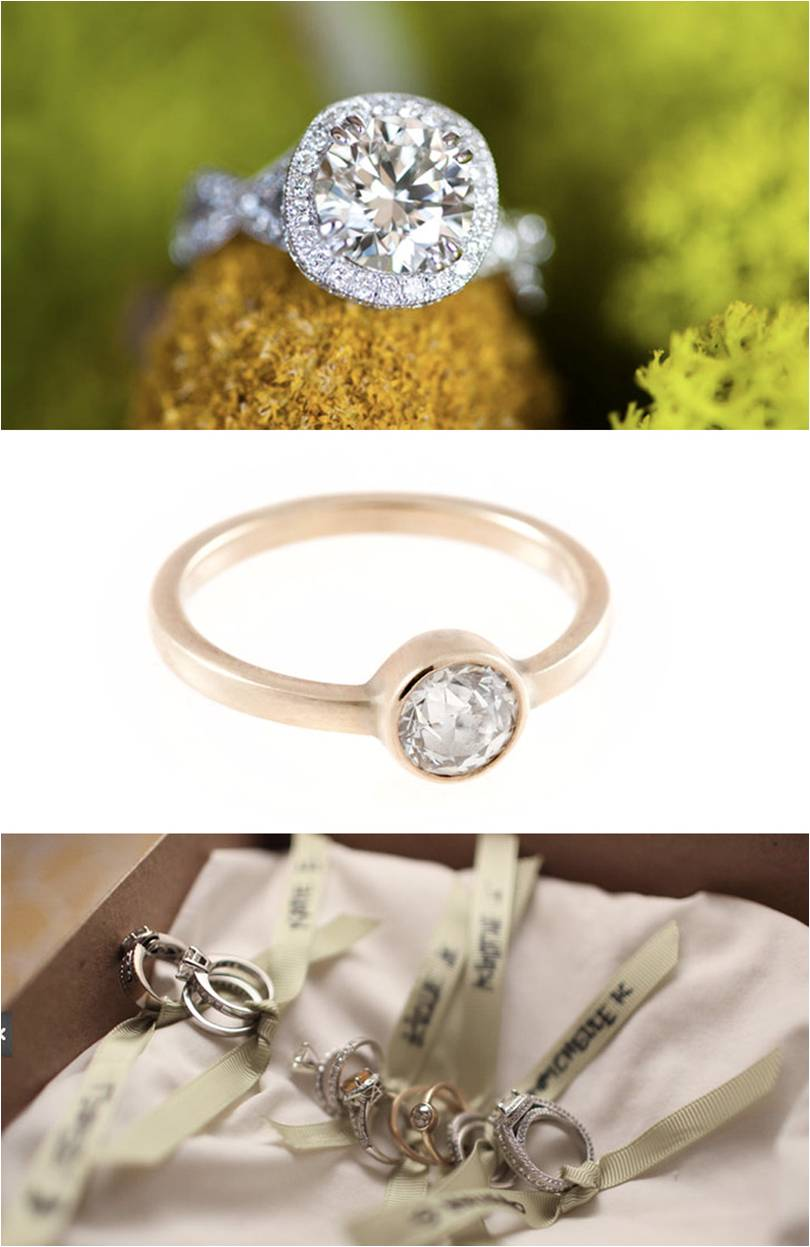 tuesday trends custom engagement rings traditional wedding rings Shiny things