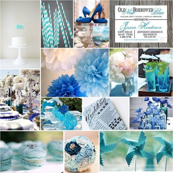 blue bridal shower decor wwwimgkidcom the image kid