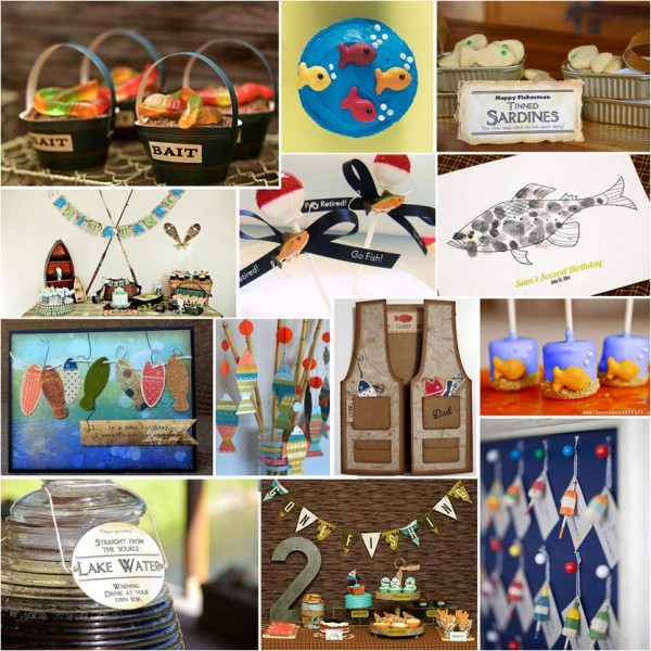 Pretty parties gone fishing retirement party for Fishing theme party ideas