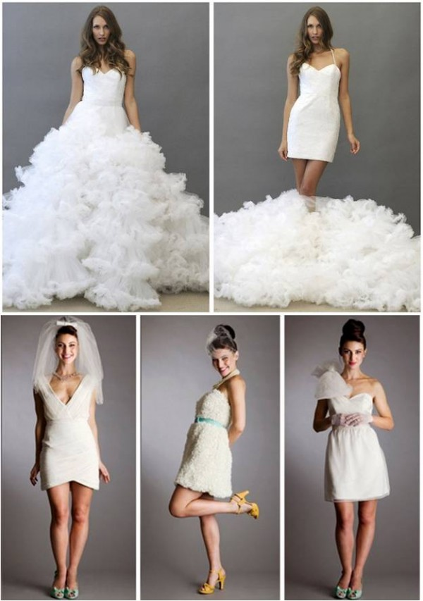 Tuesday trends the wedding dress change for Best wedding dresses for dancing