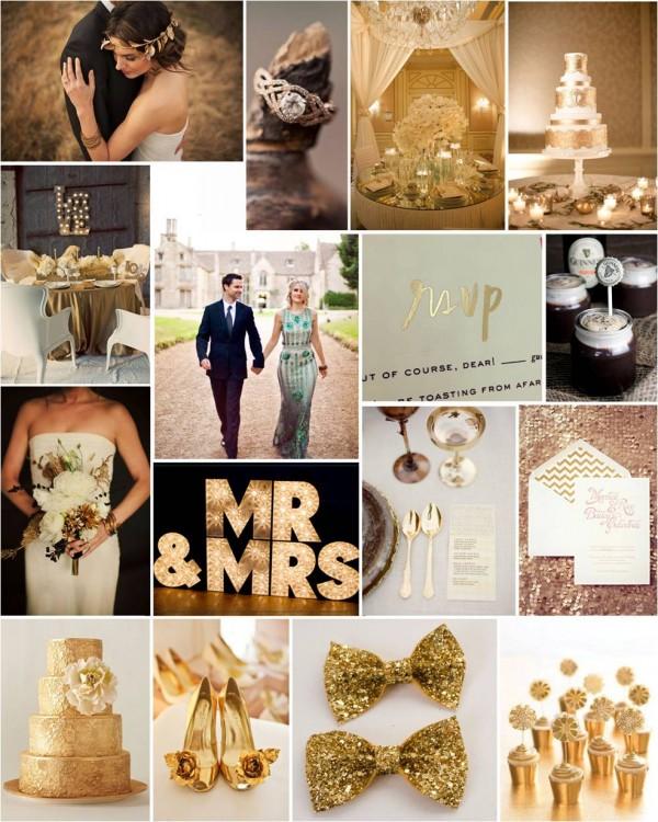 gold wedding